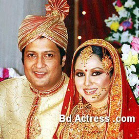 Bangladeshi Model Nadia Ahmed and her husband