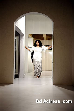 Pakistani Model Angeline Malik in a house