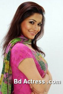 Bangladeshi Model Badhon in pink dress