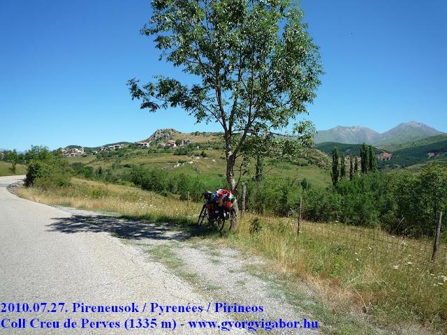 Pyrenées bicycletour, Pireneusok bringatúra : Coll Creu de Perves - Györgyi Gábor 2010