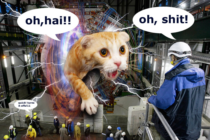 Meanwhile, over at the Large Hadron Collider...