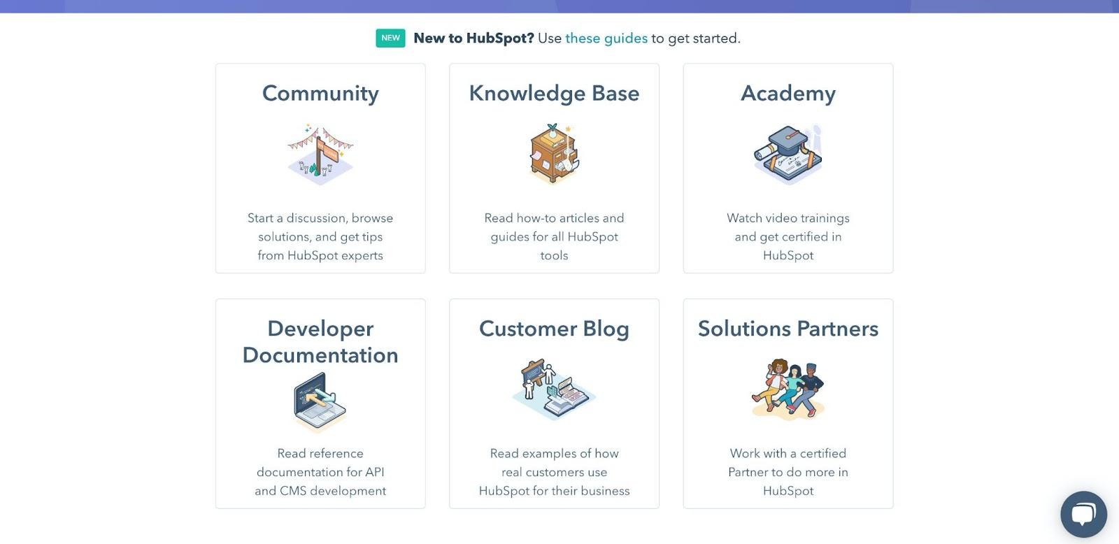 HubSpot self-service education tools