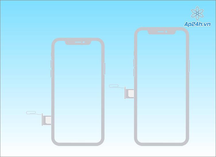 Khay SIM ở vị trí bên trái iPhone