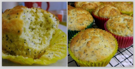 Orange and poppyseed muffins