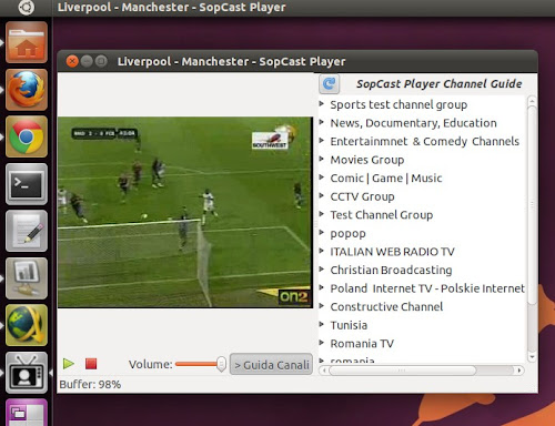 SopCast Player su Ubuntu 11.04 Natty