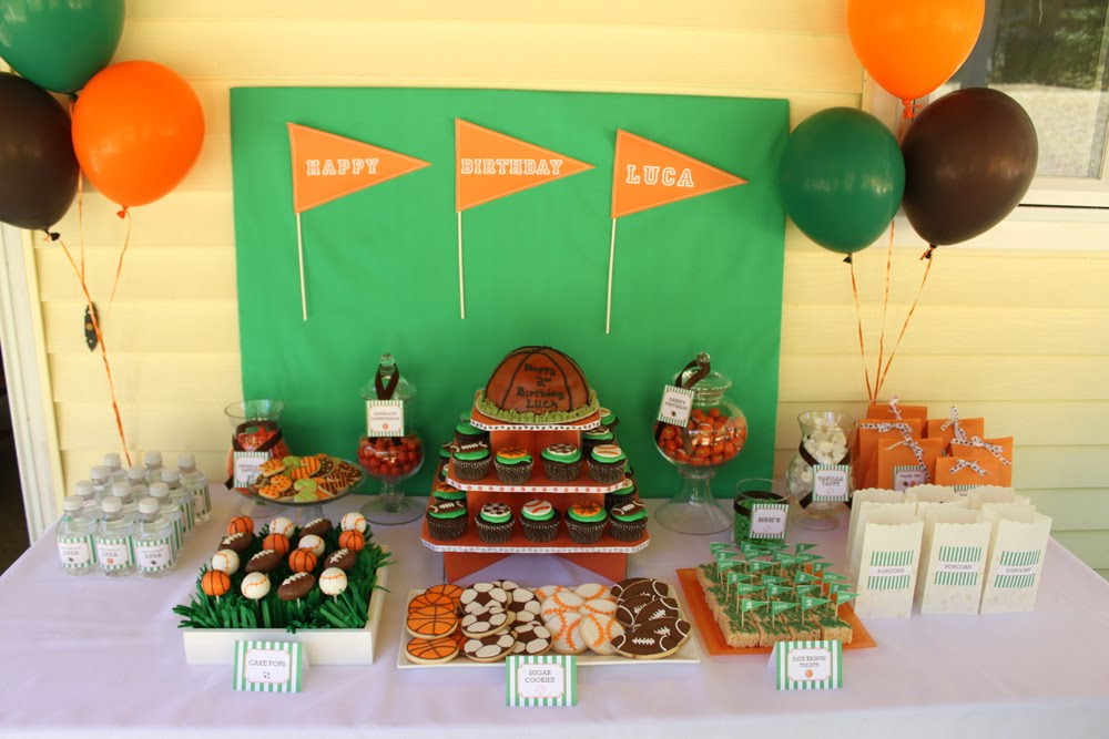 Sports Theme Dessert Table