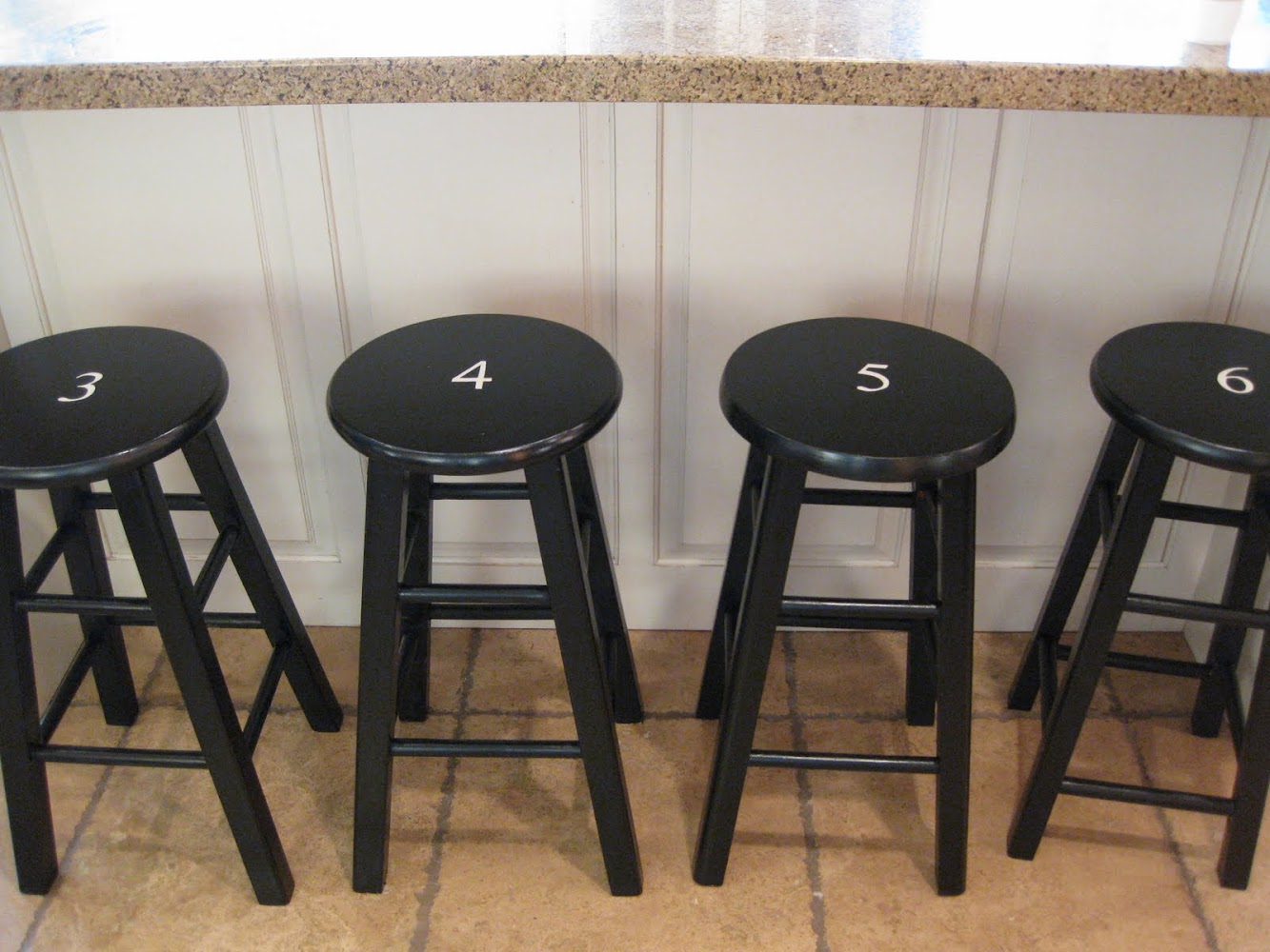 Numbered Barstools