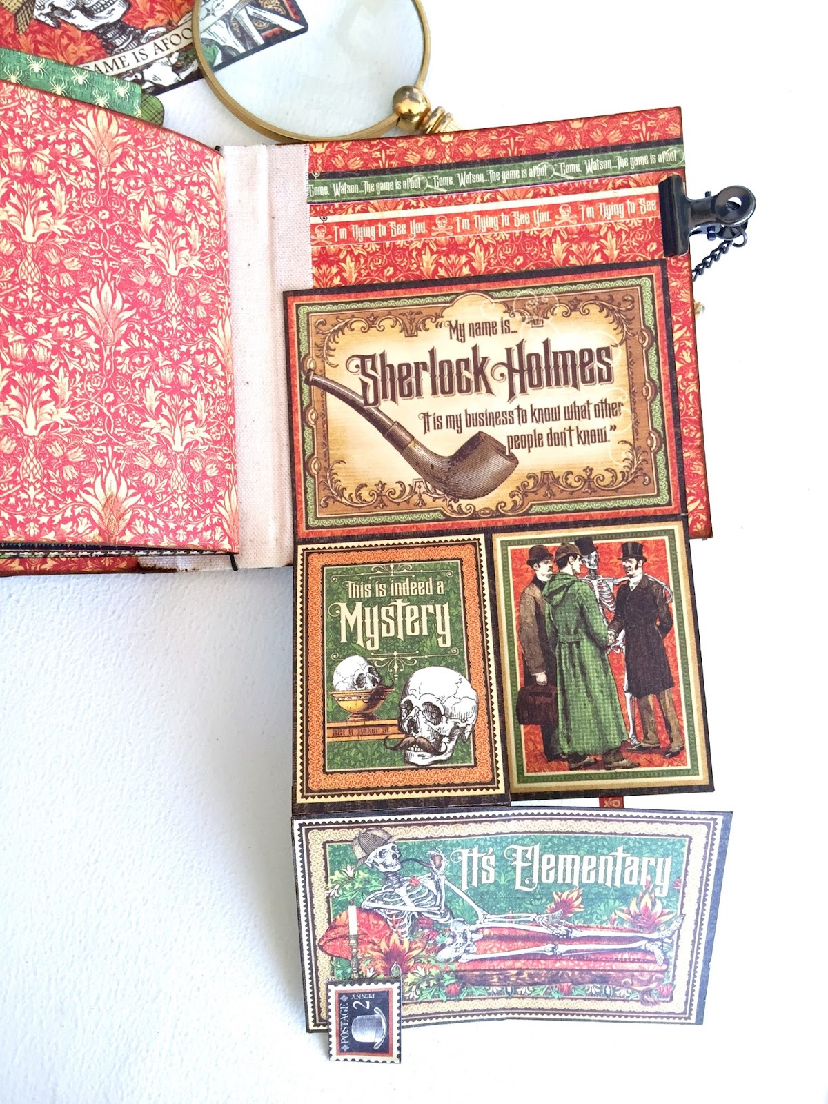 Stand and Mini Album Master Detective by Marina Blaukitchen Product by Graphic 45 photo 29.jpg