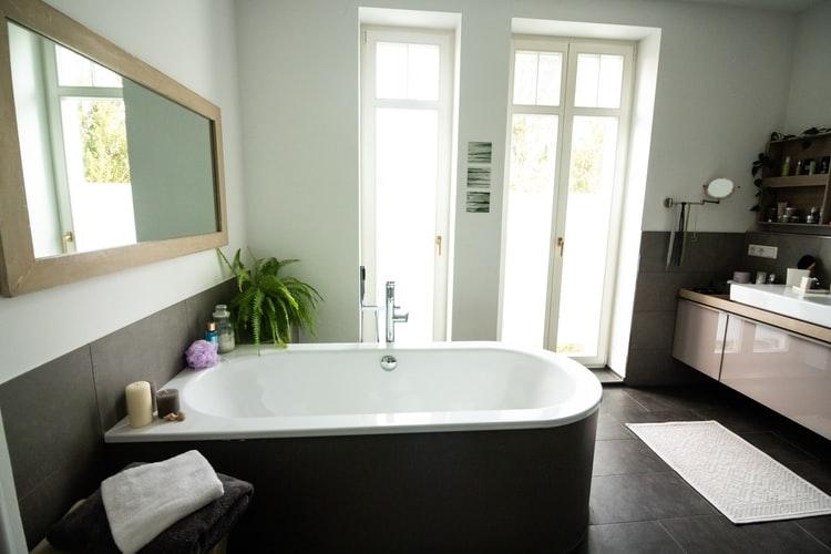 door and bathroom