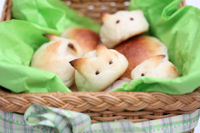 photo of bunny buns in a basket