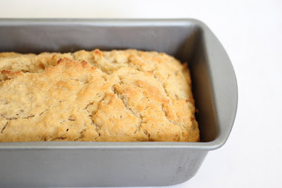 photo of beer bread in a loaf pan