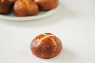 photo of one pretzel roll