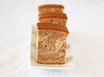 photo of slices of castella cake