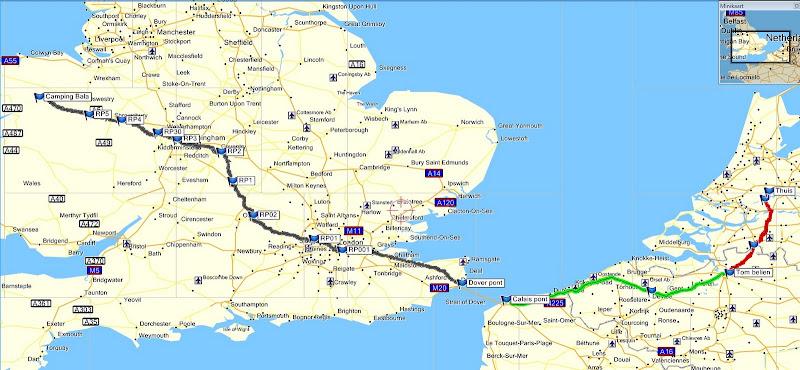 track route naar Wales