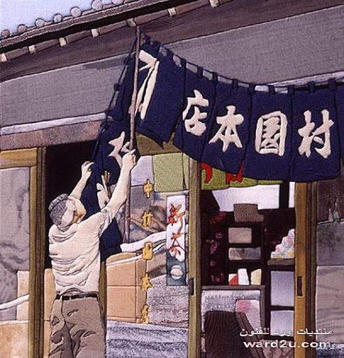 تابلوهات مناظر طبيعيه رائعه فن التاكاشى اليابانى