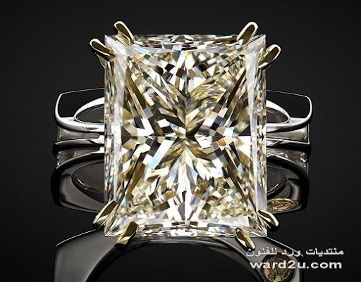 خواتم سولتير بفصوص الماس حر واحجار كريمه