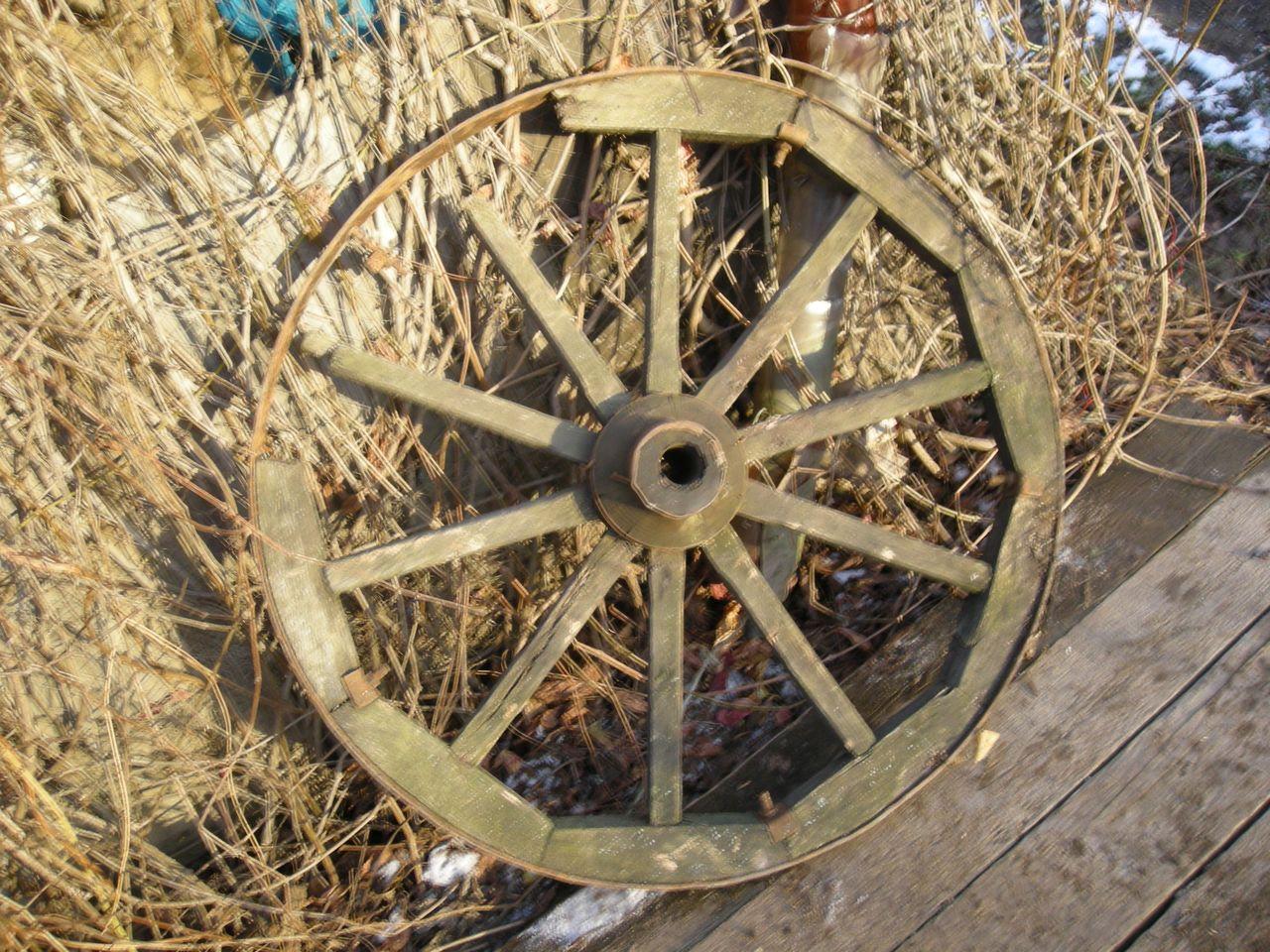 Изготовление колес для декоративной телеги