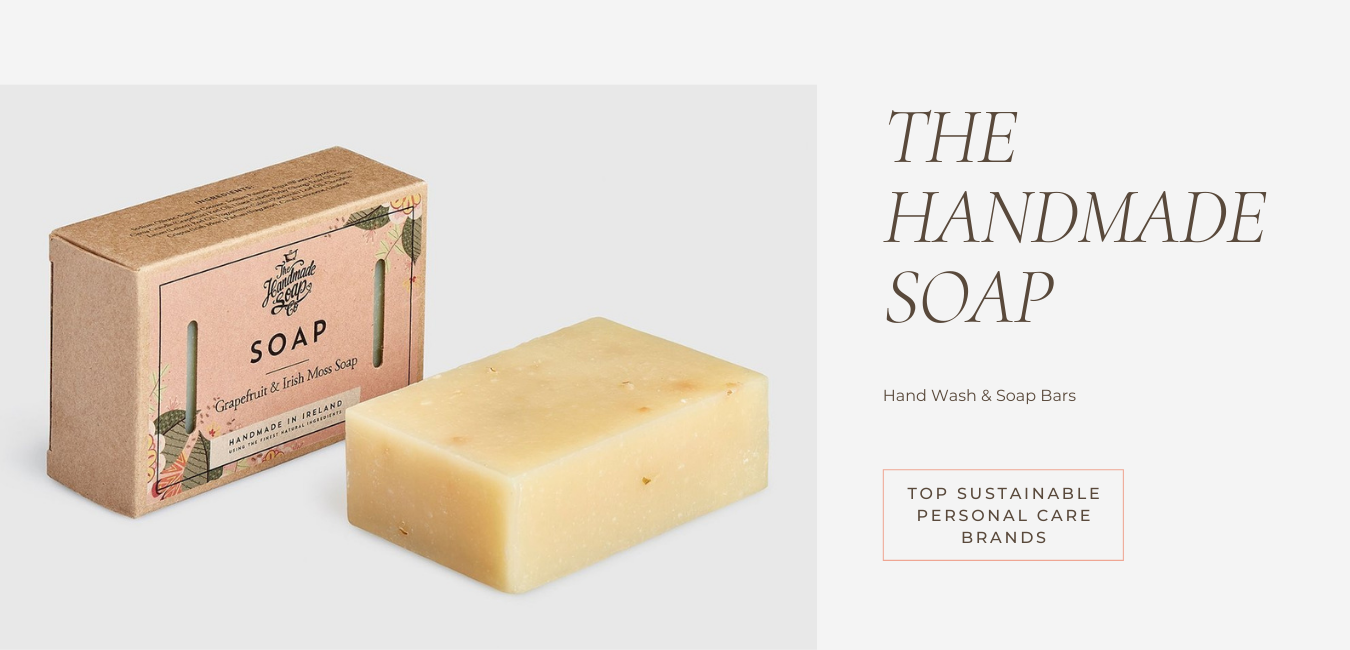 embrace sustainable living with the handmade soap company