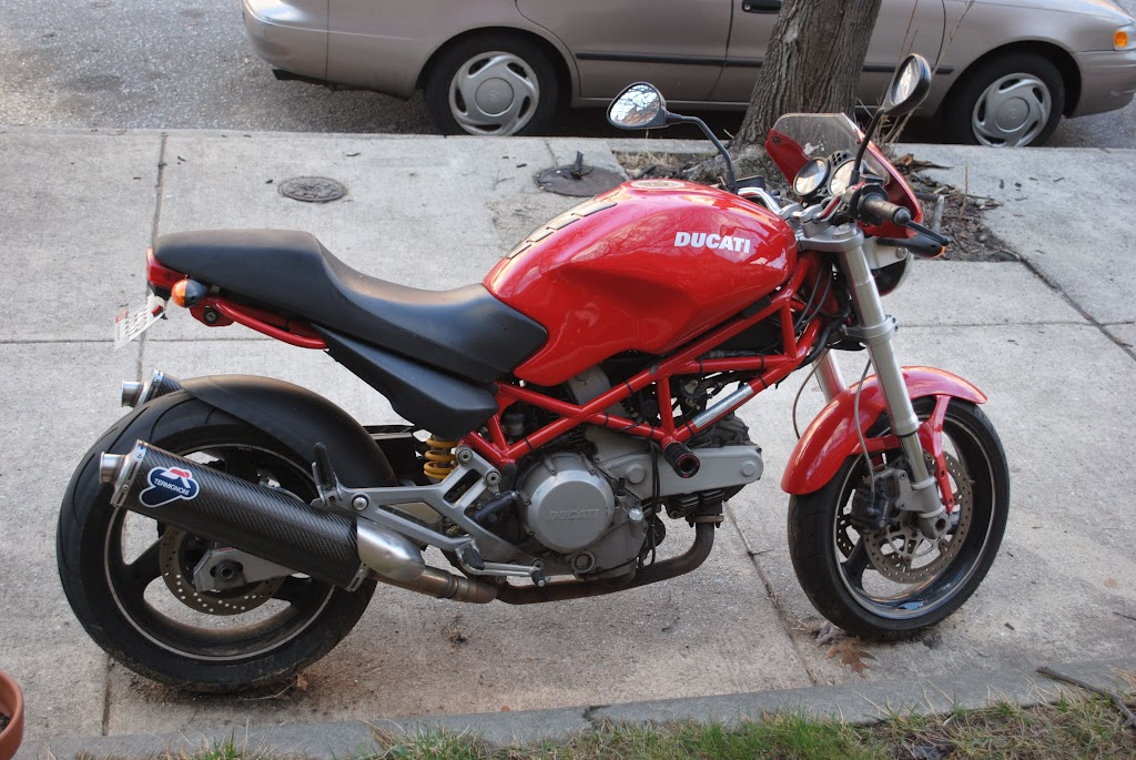 Ducati  V Tipped Over