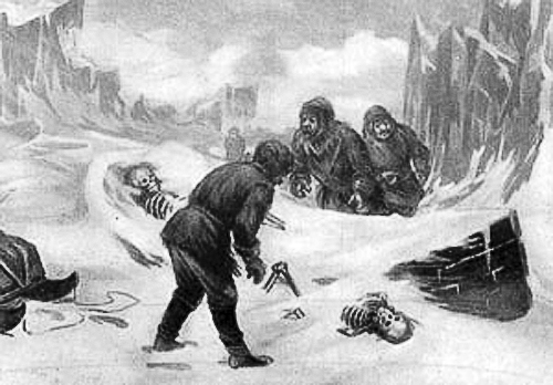 Members of Franklin's expedition are found on King William's Island.