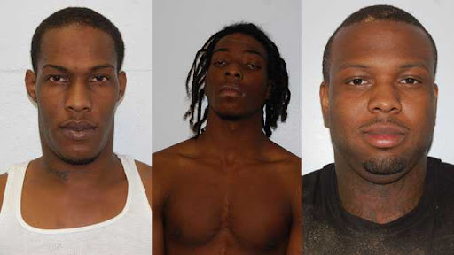 Giovannte Maddox, 25-year-old Tron Lamar Hill, and 17-year-old Markus Isiah Seymore.