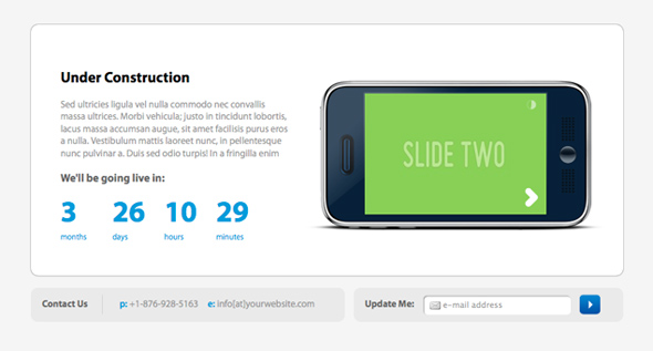 iConstuctive Under Construction Template