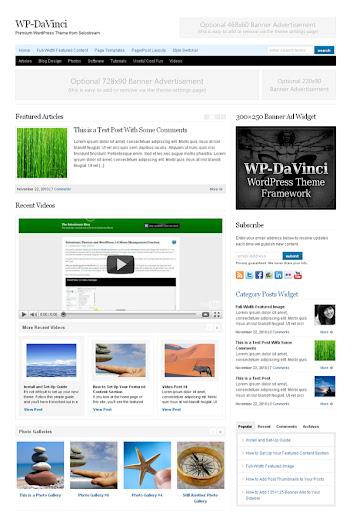 DaVinci WordPress Theme Framework