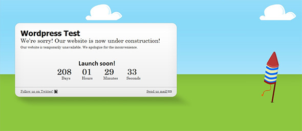 Ready2Launch Under Construction Template
