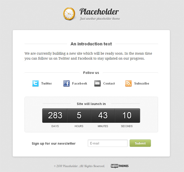 Placeholder Under Construction Template