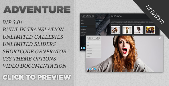 Adventure Fullscreen WordPress Portfolio Theme