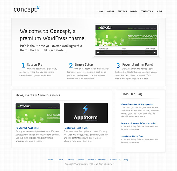 Concept Minimalist Design WordPress Theme