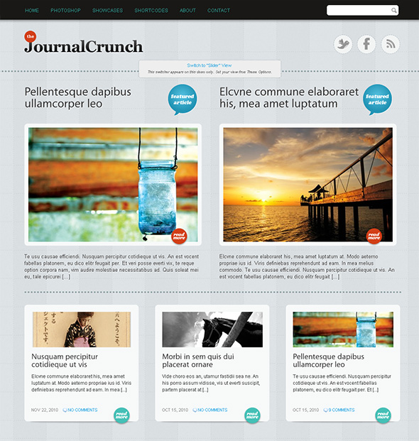 The JournalCrunch Free Magazine Theme