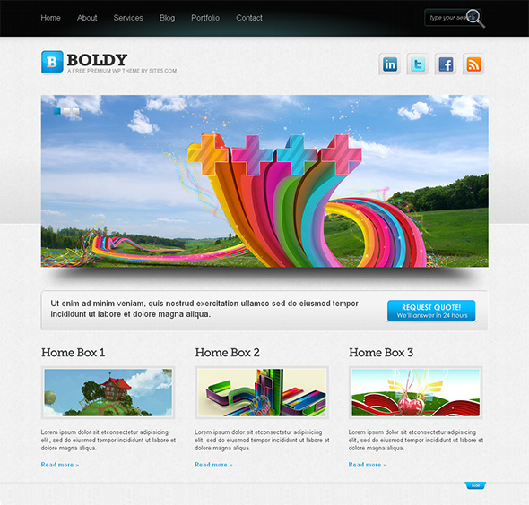 Boldy Free and Elegant Theme