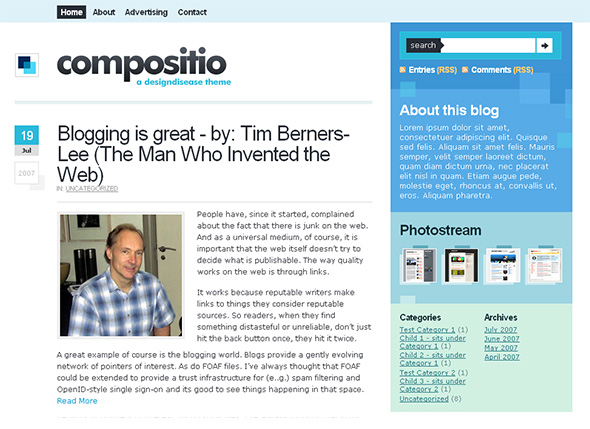 Compositio WordPress Theme