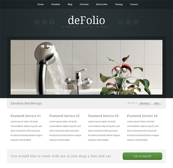 deFolio Professional WordPress Theme