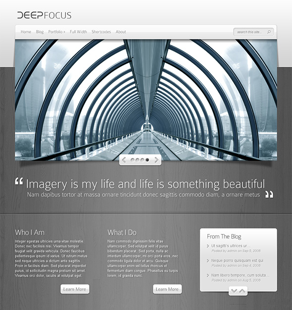 DeepFocus Professional WordPress Theme