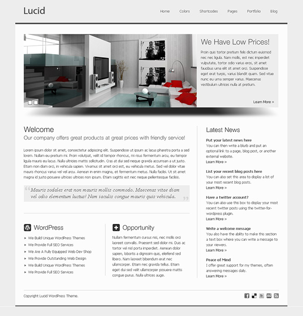 Lucid Professional WordPress Theme