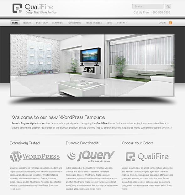 QualiFire Professional WordPress Theme