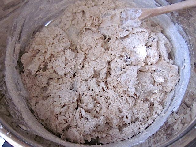 dough mixture (still looks too dry)