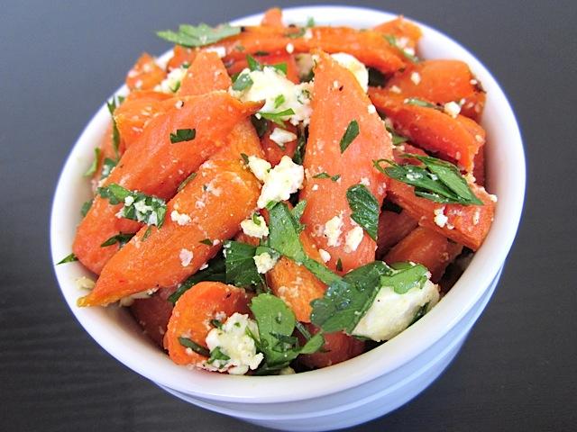 Carrot and Feta Salad - BudgetBytes.com