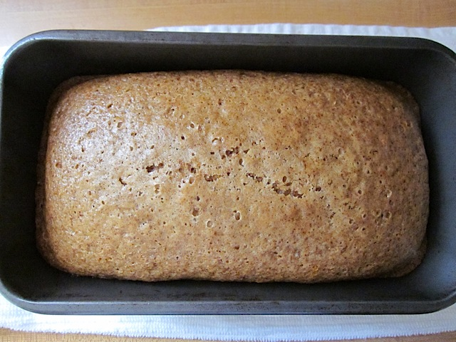 baked lemon spice cake in pan