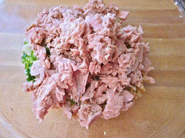 drained tuna