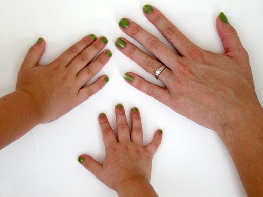 Fingernails Painted Green