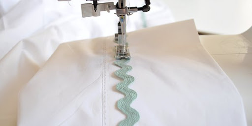Sewing Ric Rac On Sheet