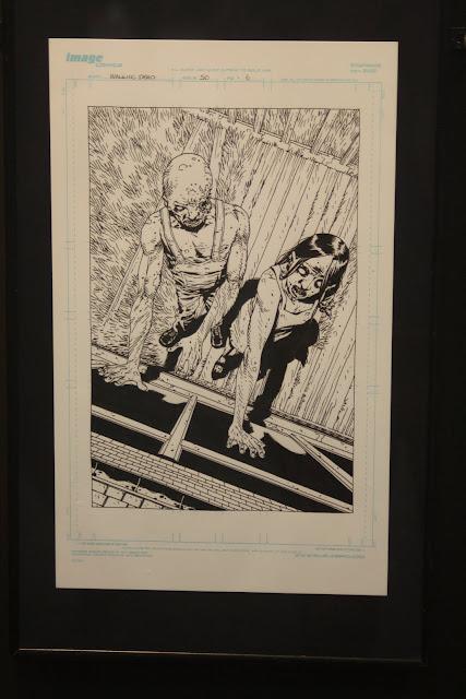 Una ilustración de Adlard para los muertos viventes