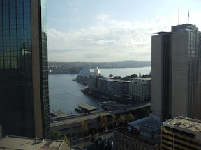 View of the Sydney Opera House from my hotel room.