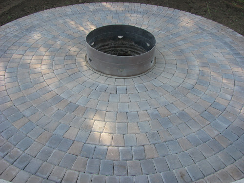 Charming Circle Patio With Firepit