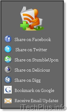 Bookmark and Share Homepage Widget Style 2
