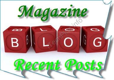 Tiện ích Magazine Recent Posts cho Blogger
