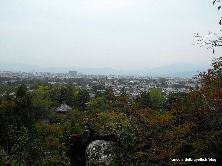 Vue sur Kyoto depuis la pagode de l'Eikan-dô